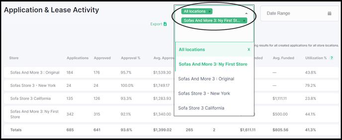 Reports-Selecting-a-Location-Drop-down-menu